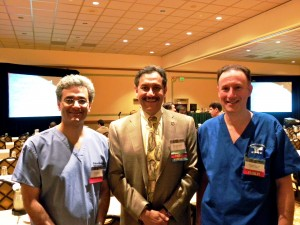 Dr. McKenzie is pictured with Dr. David Perez-Meza Co-Chairman of the conference and Dr. Parsa Mohebi from Los Angeles, California